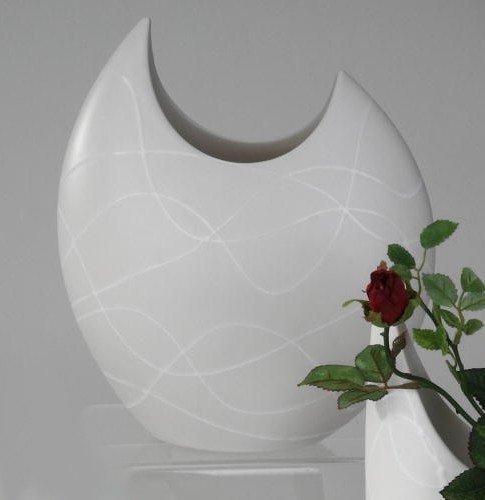 Glasvase Konischer Zylinder Weiss 70cm O 22 5cm Bodenvase Glas Gross