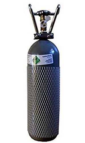 CO2 2KG Flasche gefüllt & FABRIKNEU! mit Lebensmittel CO2 (E290) Kohlensäure TÜV 2028