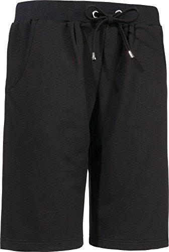 laritaM Freizeithose kurz aus Sweat schwarz Größe 40/42 - Schwarze Sweat