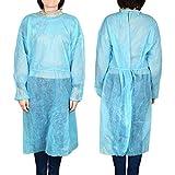 Exceart 6 Pz Abiti Medici Monouso Abito di Isolamento Camici Chirurgici Abito di Isolamento Non Tessuto Tuta Protettiva Abbigliamento per Ospedale Clinica Industria Laboratorio Colore Casuale