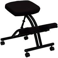 Flash muebles funda para silla ergonómica de rodillas en tela, metal, negro, 66,04x 50,8x 20,32cm