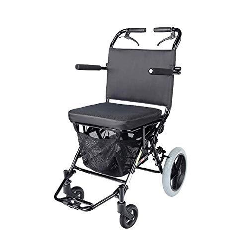 GJZhuan Aluminiumlegierung Leichtgewichtigen Rollstuhl, Faltbar Manueller Rollstuhl Kann Den Hellste Rollstuhl In 1 Sekunde Öffnen/Falten, 100 Kg Tragenden Manuellen Rollstuhl