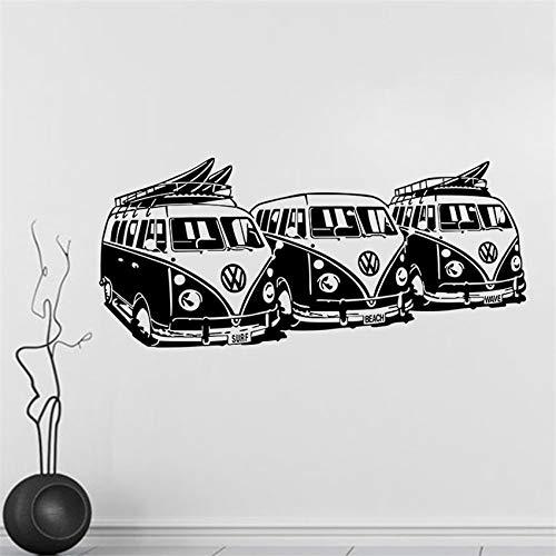 zqyjhkou Bus Vinyl Wandtattoo Aufkleber Dekorative Muster Wohnkultur Kunstwand Tapete Modernes Design Cartoon Wandaufkleber D567 58 X 130 cm