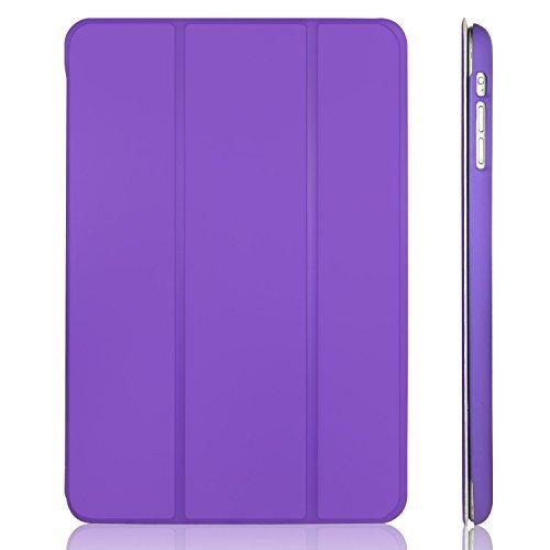 für Apple iPad mini 3 iPad mini 2 iPad mini, Schutzhülle mit Ständer Funktion und Auto Einschlafen/Aufwachen, Lila ()