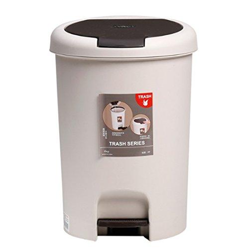 HMANE - Cubo de Basura con Pedal DE 15 l, Redondo, para el hogar, plástico