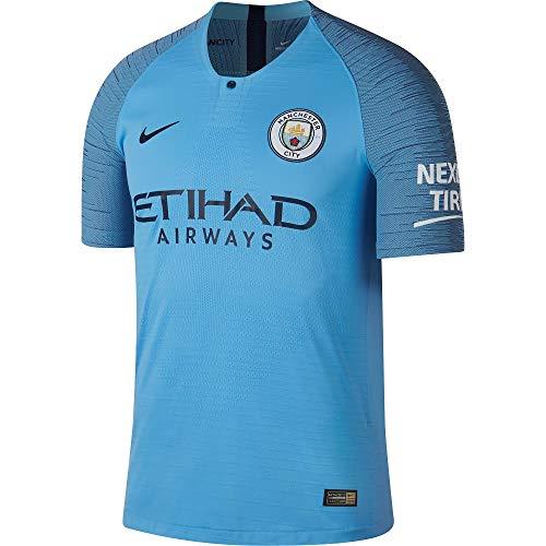 Nike Herren 2018/19 Manchester City FC Vapor Match Home Fußball-Trikot, Field Blue/Midnight Navy, m -