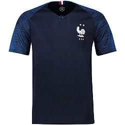 Maillots de Football de France Soccer Jersey 2018 Homeland Extérieur,Black,S