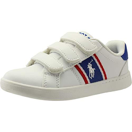 Polo Ralph Lauren Quigley EZ Weiß/Königlich/Rot Glatt 29 EU - Sneaker Kinder Lauren Polo Ralph
