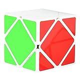 Maomaoyu Skewb Speed Cube de Vitesse Lisse Magique Puzzle Twist Magic Cube Cadeau de Vacances pour Enfants Adultes Blanc