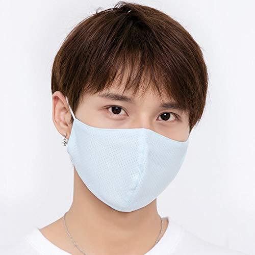 YUELANG Sommer Dünne Sonnencreme Ice Silk Mundmaske Atmungsaktiv Und Waschbar Gesundheit Und Schönheit Sonnencreme Gesichtsmaske Körperpflegeprodukte (Color : As show5)