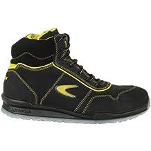 Zapato de Seguridad S3 SRC Eagan Cofra Zapatos de Trabajo Zapatillas Piel Aluminio Tapa con Negro de pedalada Protección Amarillo