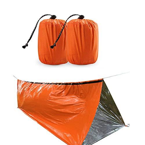 SDGDFXCHN Saco de Dormir de Emergencia Saco de Dormir de Supervivencia PE Pel/ícula de Aluminio Ligero Impermeable Bolsa t/érmica Manta de Emergencia para Acampar al Aire Libre y Caminatas