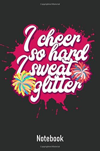I Cheer So Hard I Sweat Glitter: Ruled Notebook Journal I Funny Cheerleader Gift [Lingua Inglese] di Marcel Doll