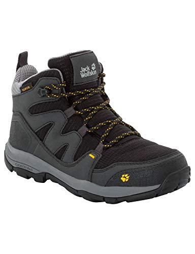 Jack Wolfskin Unisex-Kinder MTN Attack 3 Texapore Mid Trekking-& Wanderstiefel, Grau (Burly Yellow Xt 3802), 26 EU