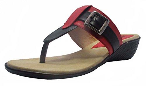 Sammy ouverte sandale coin string chaussures de sport de femmes Rouge