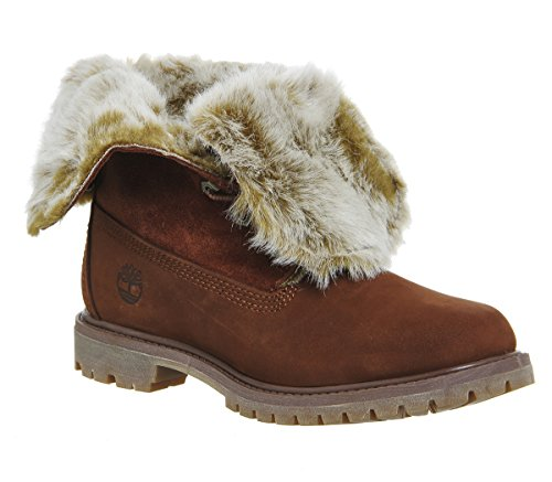 Timberland womens authentic faux Fur D cognac A19D2 Cognac Nubuck Burnished