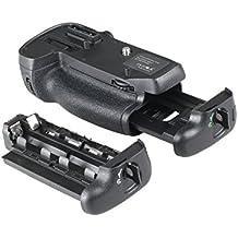 Yeeteem BG-2N empuñadura de batería para Nikon D7100 D7200 Cámara réflex digital Battery Grip reemplazo para Nikon MB-D15 funciona con 1 o 2 piezas EN-EL15 o 6 piezas pilas AA