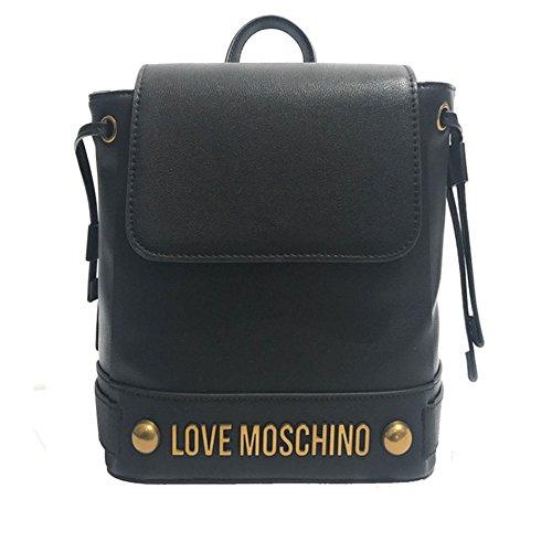 LOVE MOSCHINO JC4348PP05 Klein rucksack Frau Schwarz TU (Tessuto Tasche Schwarz)