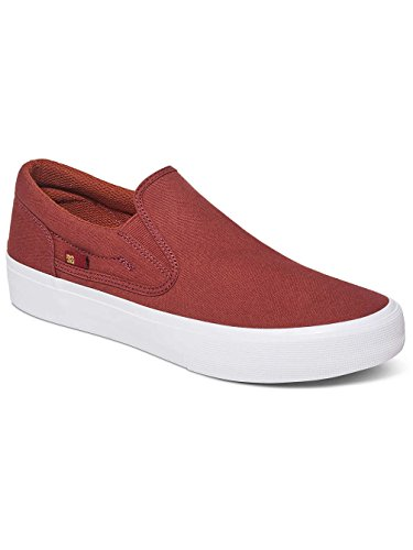 DC TRASE Herren Slip-On Marron - Burnt Henna/White