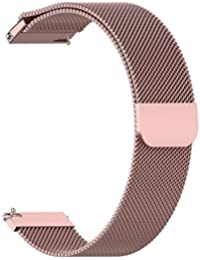 Zinniaya Correa de Reloj de Pulsera de Malla de Acero Inoxidable Reemplazo del Reloj de la Correa magnética para Xiaomi Amazfit Bip Reloj Juvenil