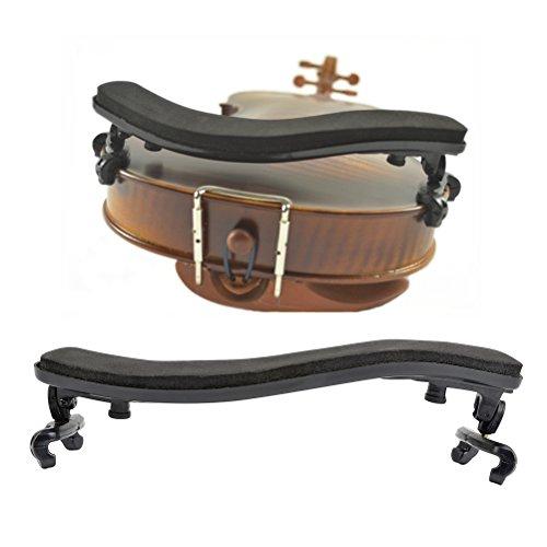 TIMESETL Violin Schulterstütze Einstellbar Gepolstert Geige Schulterhalter für Violine mit Größe...