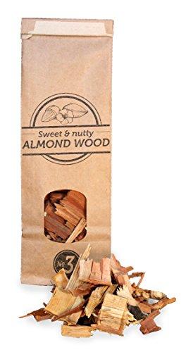 500ml, cippati da affumicatura di mandorlo, 2-3cm, Smokey Olive Wood