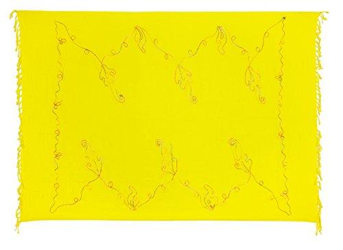 Sarong Handbestickt inkl Sarongschnalle im Schmetterling Design Viele Größen  und exotische Farben und Muster zur Auswahl Pareo Dhoti Lunghi Bunte  Stickerei ...