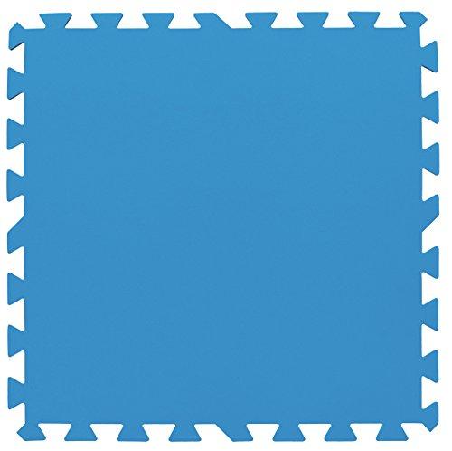 Bestway Pool Bodenschutzfliesen-Set 8 Stück, 50x50x0,4cm, blau