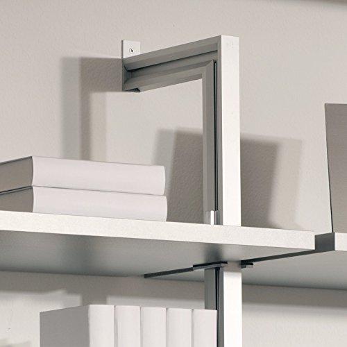 Regalsystem zur Wandbefestigung 2er Set inkl. 8 Träger 2245 mm Aluminium inova Star