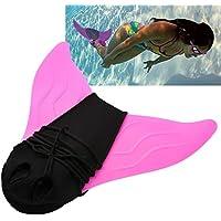 Towinle Aletas de buceo para niños y niñas, aletas de sirena, aletas de natación, color rosa
