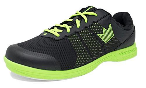 Brunswick Fuze Bowling-Schuhe für Damen und Herren, für Rechts- und Linkshänder Schuhgröße 39-46, in verschiedenen Farben (Schwarz/Neon, 44,5) (Bowling-schuhe)