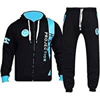 shelikes Mens Track Suit Set Boys HNL Camouflage Fleece Army Hooded Hood Top Joggers Bottom Tracksuit Sweatsuit Jogging…
