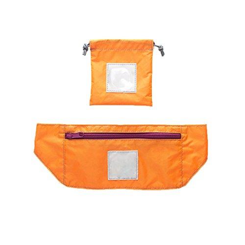Viaggia Sport All'aria Aperta Leggero Portatile Pieghevole Tapis Roulant Furto Borsa Pacchetto,Grey Orange