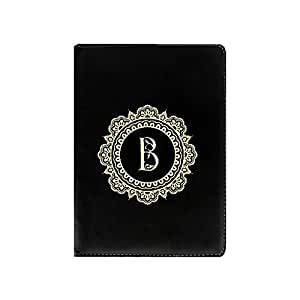 "Hamee Alphabet Baroque Series Premium Leather 360° Rotating Flip Case or Folio Case for Datawind Vidya Tablet ""Letter B"""