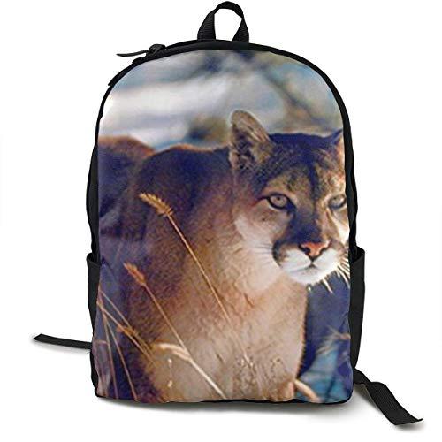 Wild Cougar in Snow Wildlife Mountain Lion Sacs à Dos...