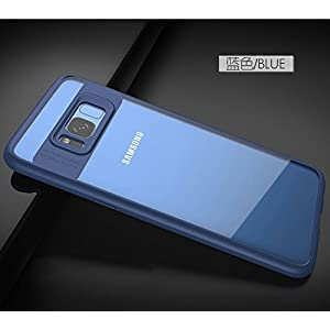 MOBISTYLE TPU + PC Transparent Back Cover Case for Galaxy Samsung s8 Plus- Blue