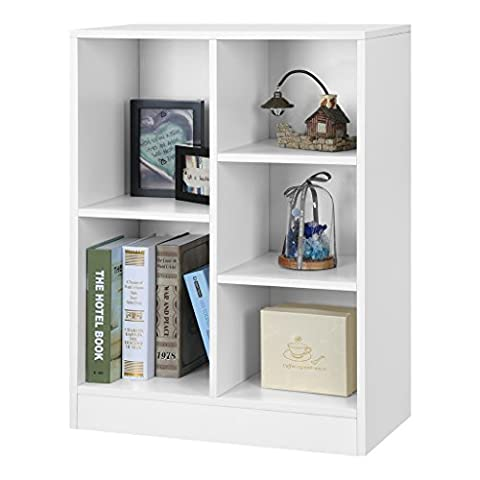 LANGRIA 5-Cube Storage Unit Open Bookcase, Modern Freestanding Cabinet, Sturdy MDF Board, Home and Office Use (60 x 30 x 80 cm),