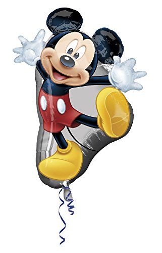 rty und Dekoration - Folienballon Super Shape - Disney Mickey Mouse, circa 78 x 55 cm (Mickey-mouse Geburtstag Deko)