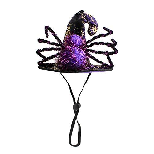 Kostüm Verkäufer Ballon - LCPET Haustier Halloween Hexenzauberer Hut Hund Katze Lustiger Spinnenhut Kopfbedeckung Kostüm für Party