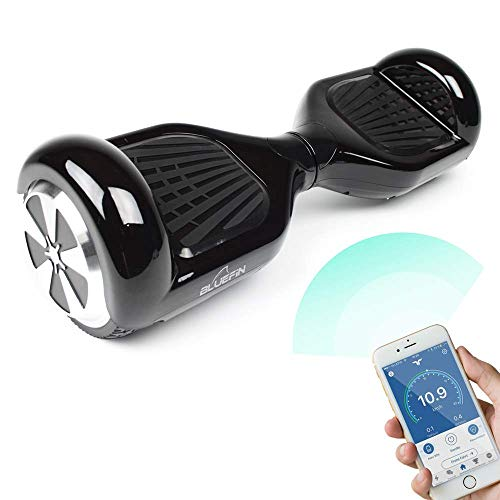 Bluefin Hoverboard Elektro Skateboard 6.5 Zoll | Integrierte Bluetooth Lautsprecher | Leiser Motor | Für Kinder & Erwachsene bis 100 Kg | Samsung Batterie | UL 2272 & CE Getestet | Inkl. Tragetasche