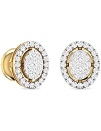 PC Jeweller 18KT Yellow Gold and Diamond Stud Earrings for Women