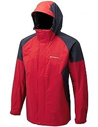 Sprayway Mens Santiago Waterproof Hiking Walking Jacket in Red/Grey