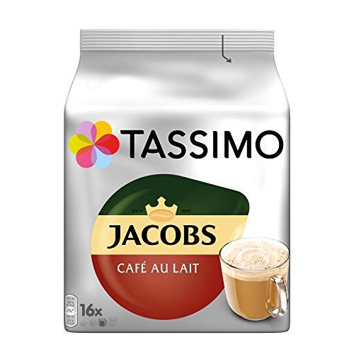Tassimo Jacobs Café Au Lait Classico, 5er Pack Kaffee T Discs (5 x 16 Getränke) 5 Creamer