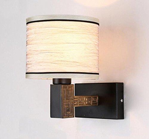 Vor Dem Bett Schlafzimmerspiegel Retro LED-Wand-Chinese Salon Aisle Eisen Wandleuchten 9in * 7in * 10in