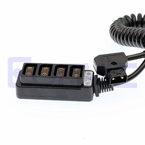 P&d-stecker (eonvic Stecker D-Tap B, um 4Port weiblich D-Tap p-tap Hub Adapter Splitter Verteiler Spiralkabel für die Fotografie Power)