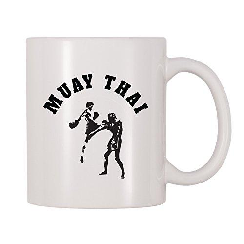 4alle mal Muay Thai Kaffee Tasse 11 Oz weiß
