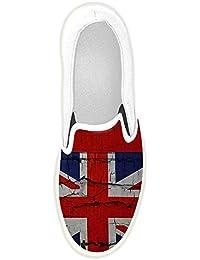 Dalliy Personalizado Bandera estadounidense Slip-en los zapatos de lona de las mujeres Pukk7S