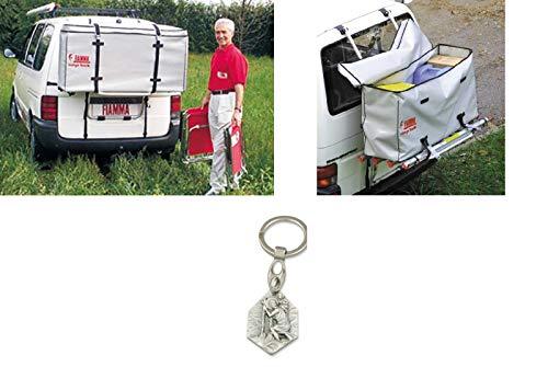 Zisa-Kombi Fahrradträger Gepäckbox Fiamma Cargo (93298844145) mit Anhänger Hlg. Christophorus