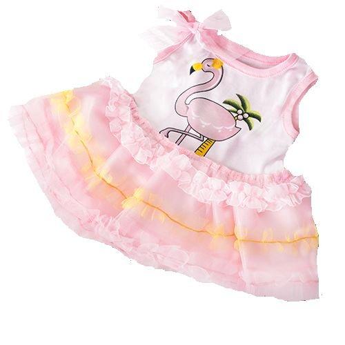 Stuffems Toy Shop Flamingo-Kleid-Ausstattung geeignet für die meist 14