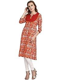 Indi Dori Cotton Round Neck Tie And Tie Jaiapuri Kurti - Multi